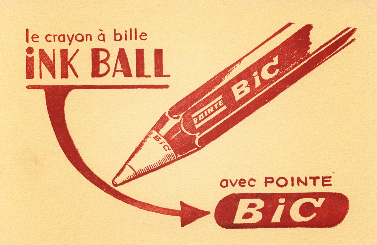 old ad for BIC ink ball