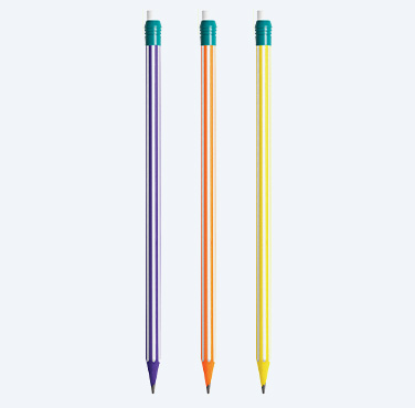 BIC EXTRA-FUN #2 PENCILS WITH STRIPES