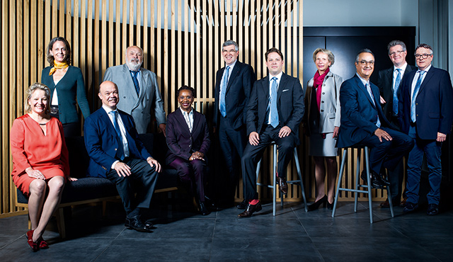 Members of the Board sitting
