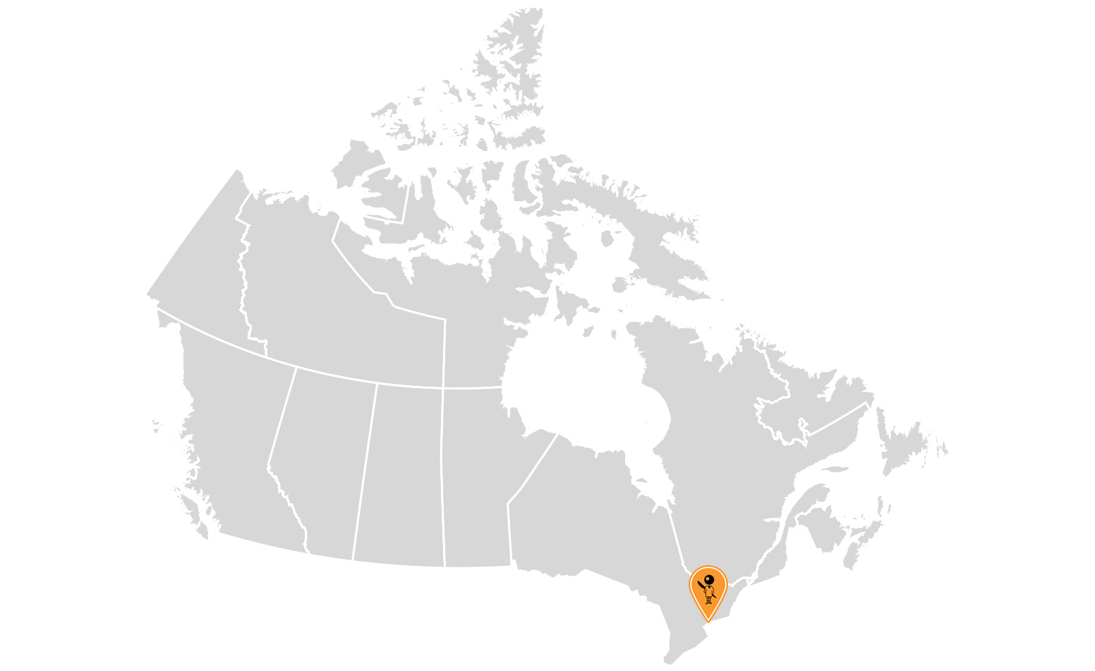 map of BIC's presence in Canada