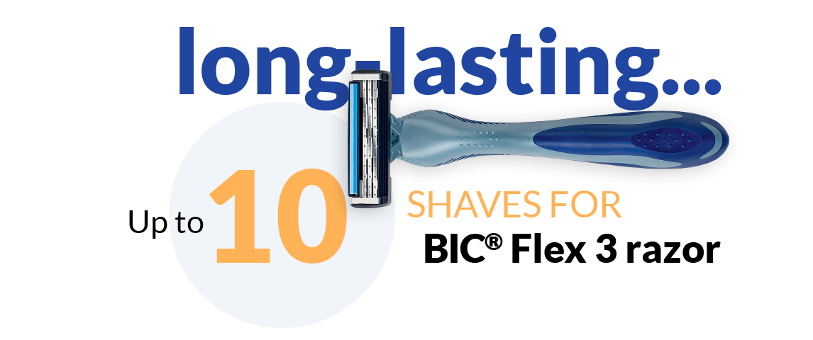 Up to 10 shaves for BIC Flex 3 razor
